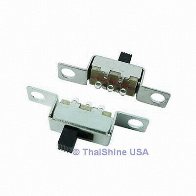 5 x Slide Switch Solder Lug 0.5A 50VDC 1P2T - USA SELLER - Free Shipping