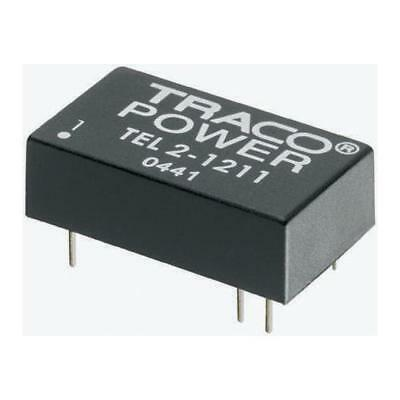 1 x TRACOPOWER TEL 2 2W Isolated DC-DC Converter, Vin 9-18V dc Vout 3.3V dc 0.5A