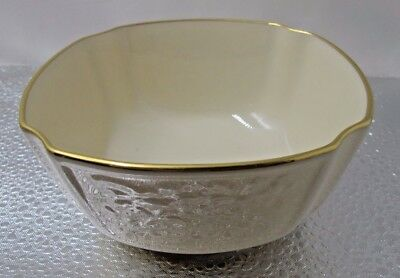 Vintage Lenox Small Bowl With Blossoms And Gold Trim - 4.75 Inches