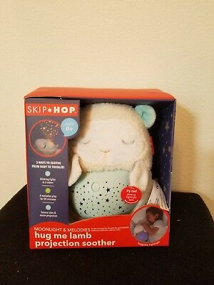 Skip Hop Moonlight and Melodies Hug Me Lamb Projection Nighttime Soother