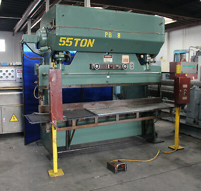 55 Ton x 8' Chicago 68-B Power Press Brake Sheet Metal Bender