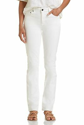 NEW JAG Womens Straight Jeans Bianca High Rise Slim Straight Ivory - Jeans