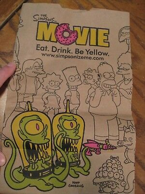 Burger King - The Simpsons Movie -  Brown Paper Bag #12 size