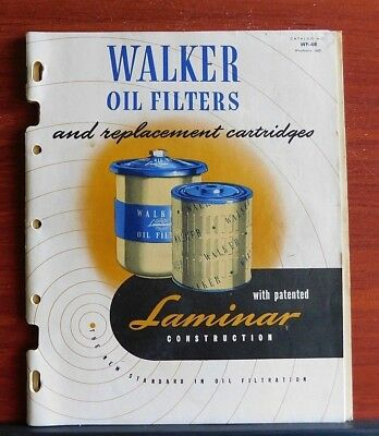 Walker Oil Filters - 1948 Catalog WF-48 - with Pricing- for Tractor Truck Marine