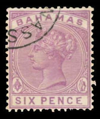 Bahamas Scott 30 Variety Gibbons 54a Used Stamp