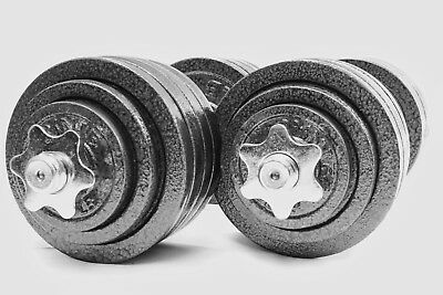 Omnie Adjustable Dumbbells Barbell Health Fitness Weight Set Gym Body Workout
