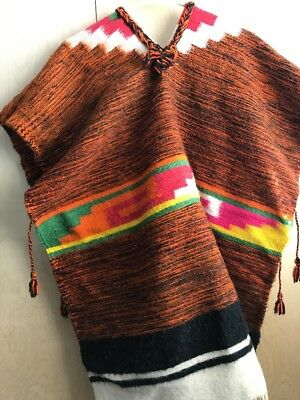 Vintage Wool Mexican Poncho