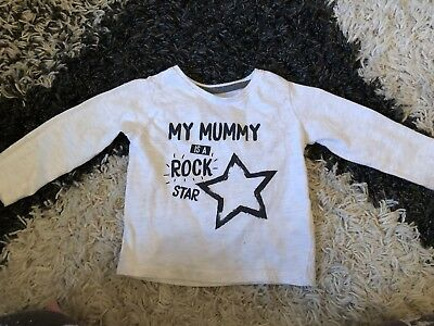 Baby Girls Primark 9-12 Months Mum Beige Long Sleeved Thin Top