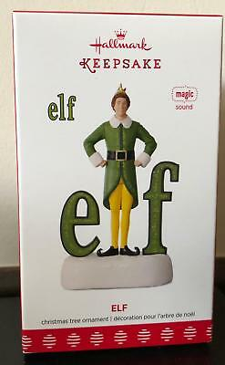 Buddy Elf Hallmark Keepsake Ornament 2017 2018 Will Ferrell SOLD OUT