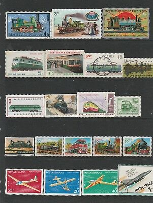 61 World Stamps Depicting Modes of Transport Used Stamps See Photos.