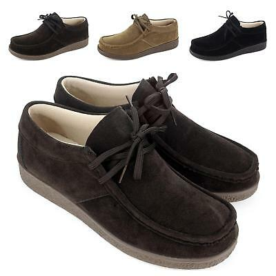 New Womens Ladies Suede Lace Up Moccasin Brown Tan  Sole Shoes Size 3 4 5 6 7 8