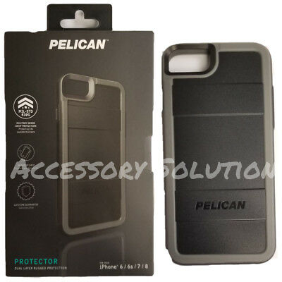 Pelican Protector Apple iPhone 7, iPhone 8 Dual Layer Rugged Case Black / Gray