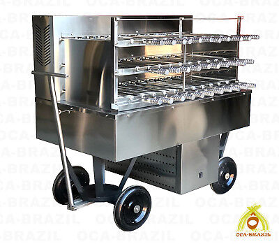 Brazilian Charcoal Grill 32 Skewers - Professional Grade - Catering Master