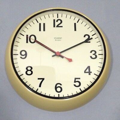 Original vintage retro Accutec Student school wall clock