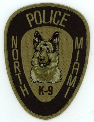 North Miami Florida Fl Police K-9 Subdued Patch Sheriff