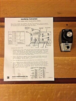 Rowe Dual Zone Wired Remote Volume Control w/ Installation Instructions