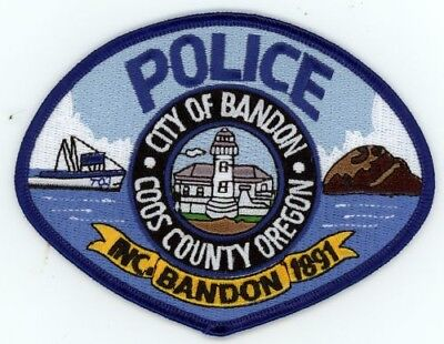 Bandon Oregon Or Police Patch Sheriff Colorful