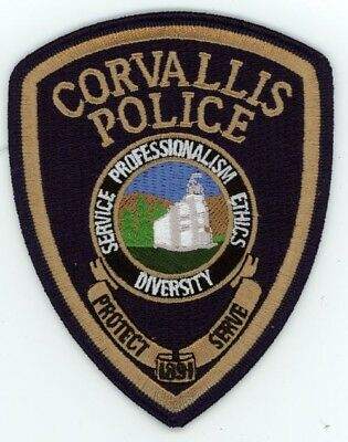 Corvallis Oregon Or Police Patch Sheriff Colorful