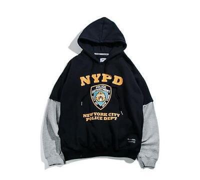 f2bc917e NYPD NEW YORK Police Department Hoodie Yellow Sleeve Cops Men Unisex ...