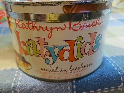 KATHRYN BEICH CANDY TIN METAL BLOOMINGTON ILLINOIS CHOCOLATE ILL IL . 1950's Lid