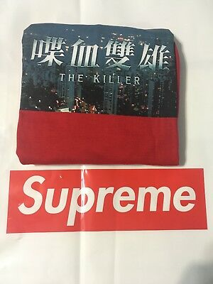 "dbe487f33f05 SUPREME ""THE KILLER"" L/S Long Sleeve Tee IN-HAND - RED, Large - FW18 ..."