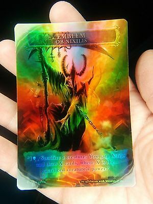 1x Ob Nixilis of the Black Oath Emblem #1 *FOIL LAMINATED* Custom Altered MTG