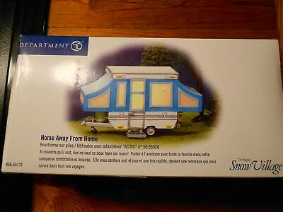 DEPT 56 SNOW VILLAGE Accessory HOME AWAY FROM HOME NIB