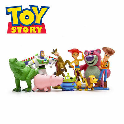 Toy Story  Woody Jessie Dinosaur Lotso 9 PCS Action Figures Gift Dolls Kids Toys
