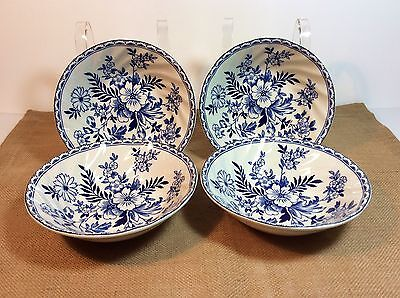 NEW! Set of 4 Johnson Brothers Devon Cottage Dessert Berry Bowl ~Made in England