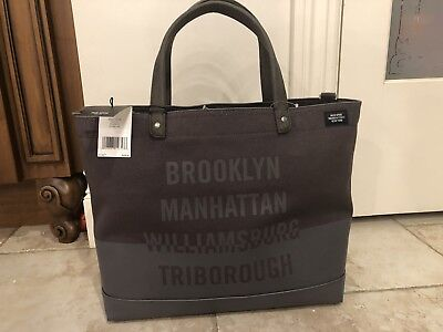 3601890a9 NWT JACK SPADE NYC Bridges Dipped Coal Bag Canvas Tote Men's Retail $228