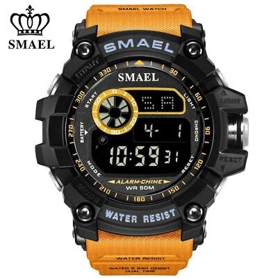 SMAEL Men Digital Watch Fashion Outdoor Sport Watches Military LED Wristwatches