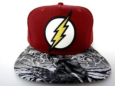 the latest 2cf3c b964a The Flash Movie Justice League DC Comics Sublimated New Snapback Hat Cap