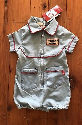 BNWT Rock Your Baby Fable Romper Size 0 6/12 Months