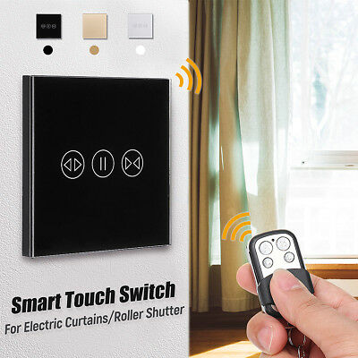WiFi Smart Wall Light Touch Panel Switch APP Remote Control For Roller Shutter