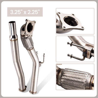 "3"" EXHAUST CAT REMOVE TURBO DOWNPIPE pour VW GOLF 5 GOLF 6 2.0 GTI  / 2.0 FSI"