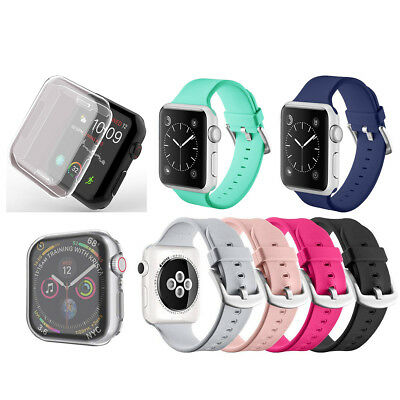 Soft Silicone Strap Band Bracelet   Film For Apple Watch Series 4/3/2 Hot