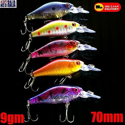 5 Redfin & Bream Freshwater Fishing Lures, Flathead, Bass, Perch, Trout,Cod
