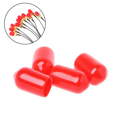 100PCS Plastic covers Dust cap Protection for RF SMA female Wire connector Red