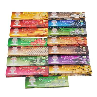 15 Fruit Flavored Smoking Cigarette Hemp Tobacco Rolling Papers 750 Leaves