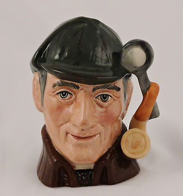 Royal Doulton Toby Character Jug The Sleuth D6635 Small Pipe Magnify glass 1972