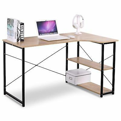 Moustache® L-Shape Writing Desk W/ 2 Storage Shelves Home office Computer table