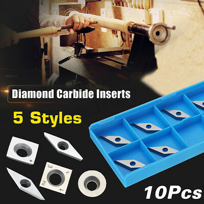 10pcs Carbide Tips Inserts Blades For Arbor Cutter Lathe Turning Boring Bar Tool