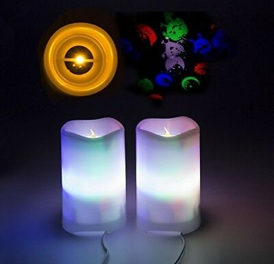 Shineart LED Candle Projection Lights - Flameless Electric Candles with Remote T