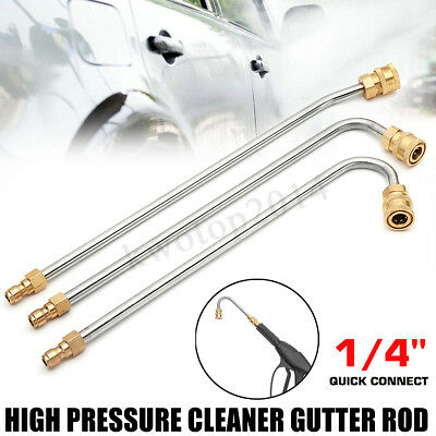 High Pressure Elbow 35cm Washer Gutter Cleaner Lance/Wand 1/4'' Quick Connect
