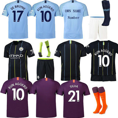 2018-2019 Football Suits Soccer Jersey Shorts For Adults Kids 3-14YRS SML +SOCKS