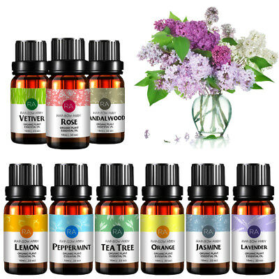 Essential Oils Set of 4/6/8/10/14 -100% Pure Natural Plant Aromatherapy Kit 10ml