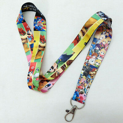 Super Smash Bros Cell Phone ID Badg Neck Strap Lanyards Key Chain Ring