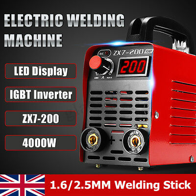 ZX7-200 Mini Electric Welder 220V 20A-200A Inverter ARC Welding Machine Tool
