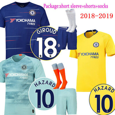2018-2019 Football Kits Soccer Jersey Suits Training Shirts For Adults Kids SML