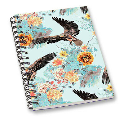 Notebook School Diary Journal Stationary Paper Daily Planner Sky Blue Notepad